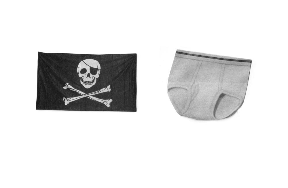 Promo image for No.7 at Vacancy - Skull and Crossbones flag & underpants